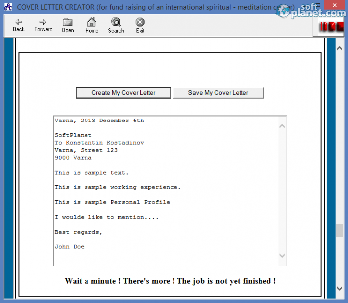 cover letter creator free download for windows softplanet