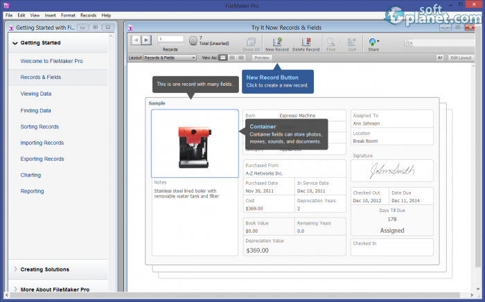 Filemaker pro free download for windows softplanet for Filemaker purchase order template