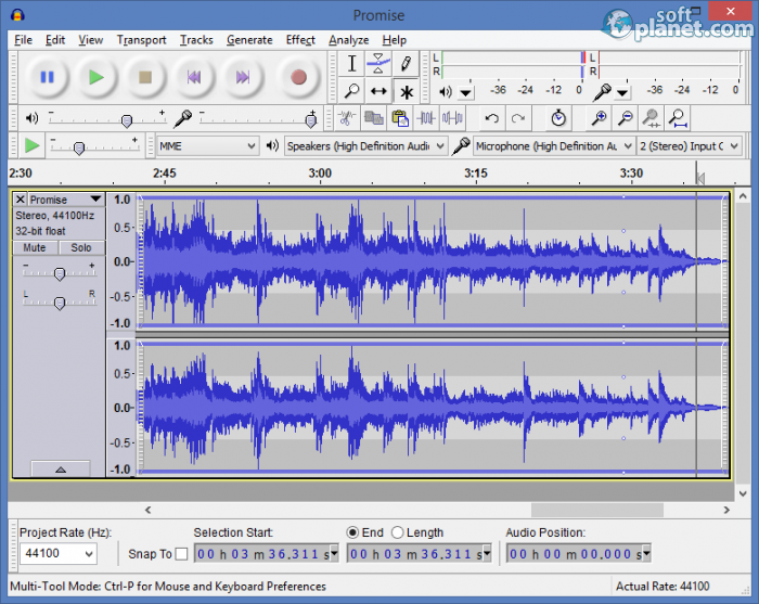 Audacity free download for Windows | SoftPlanet