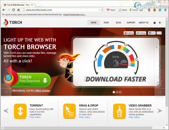 Torch web browser software
