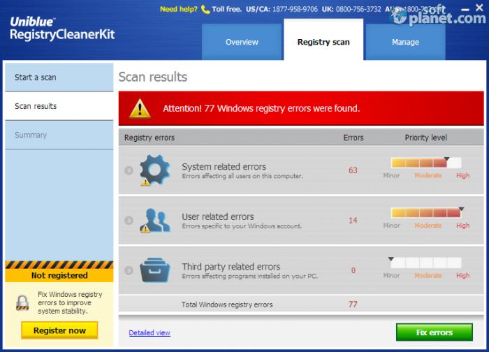 Скриншоты программы Registry Booster 2014 6.1.2.1.