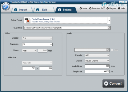ThunderSoft Flash to FLV Converter Screenshot4