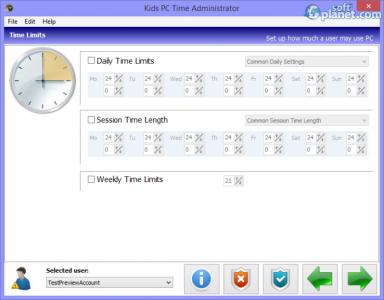 Kids PC Time Administrator Screenshot3