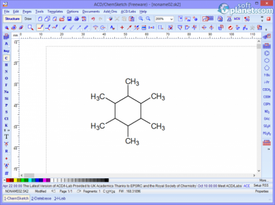 ACD/ChemSketch Screenshot2