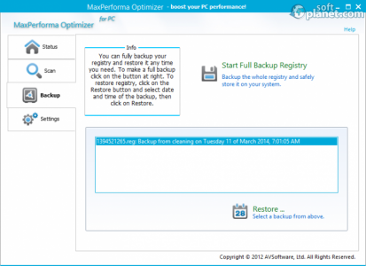 MaxPerforma Optimizer Screenshot3