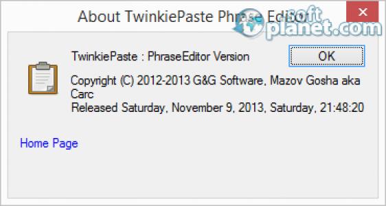 TwinkiePaste Phrase Editor Screenshot2
