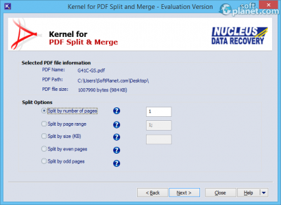 Kernel for PDF Split & Merge Screenshot3