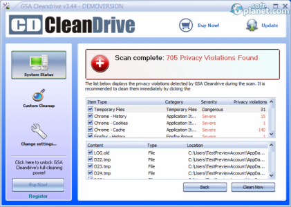 GSA Cleandrive Screenshot5