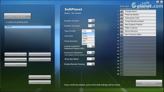 PrimeTime Draft Football 2013 Screenshot2