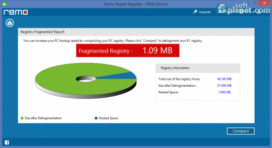 Remo Repair Registry FREE Edition Screenshot3