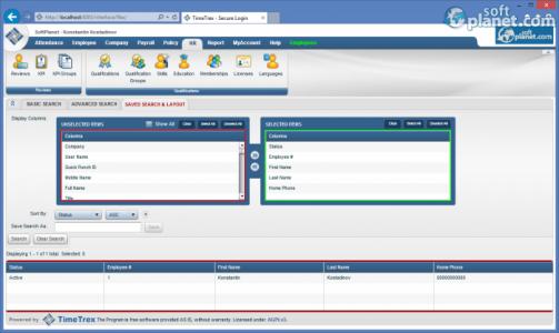 TimeTrex Time and Attendance Screenshot5