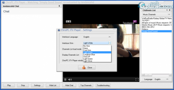 ChrisPC JTV Player Screenshot5