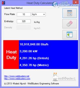 Heat Duty Calculator Screenshot2