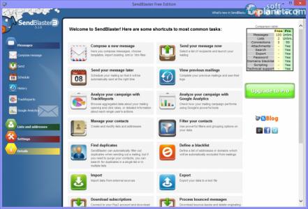 Sendblaster Free Edition Screenshot2