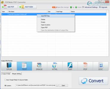 PDFMate PDF Converter Screenshot2