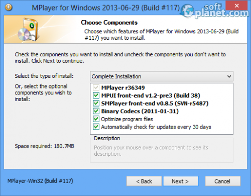 Mplayer for Windows Screenshot2
