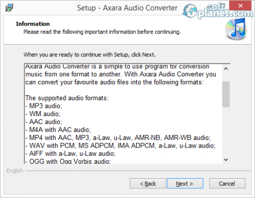 Axara Audio Converter Screenshot2