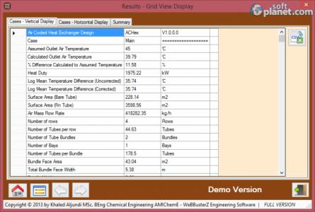 Air Cooled Heat Exchanger Design Screenshot3
