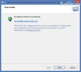 Windows Malicious Software Removal Tool Screenshot3