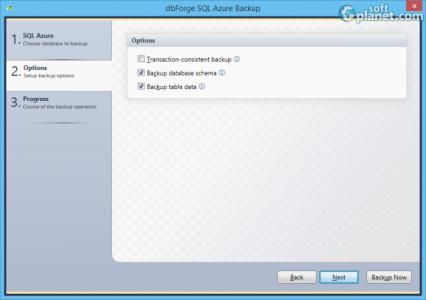 dbForge SQL Azure Backup Screenshot2