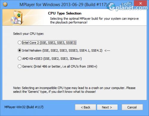 Mplayer for Windows Screenshot3