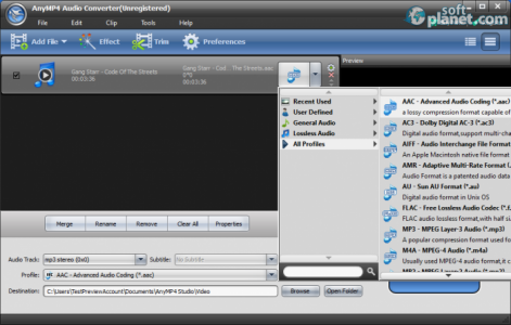 AnyMP4 Audio Converter Screenshot3