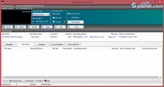 Fangxun audio recorder Screenshot2