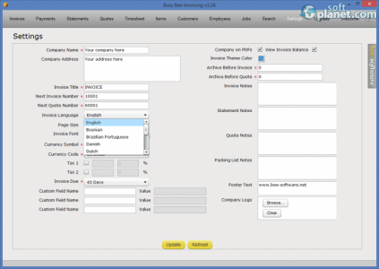 Busy Bee Invoicing Screenshot2
