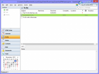 EssentialPIM Screenshot3
