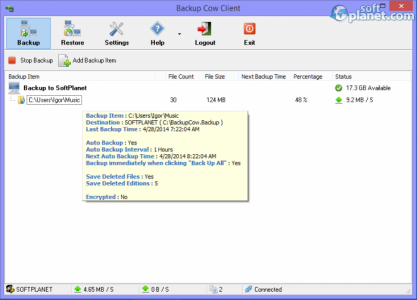 Backup Cow Private Cloud Suite Screenshot2