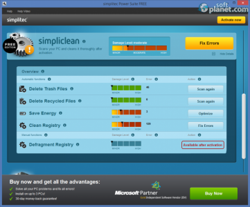 simplitec Power Suite FREE Screenshot3