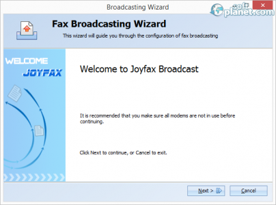 Joyfax Broadcast Screenshot3