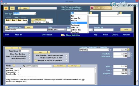 Swift Invoicer Screenshot3