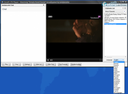 ChrisPC JTV Player Screenshot4