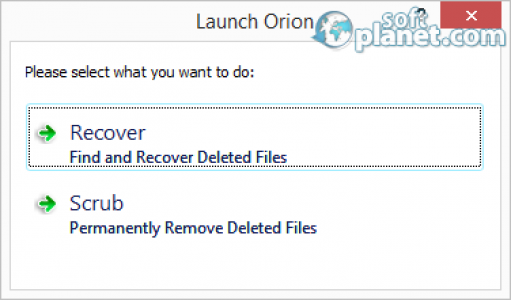 Orion File Recovery Software Screenshot2