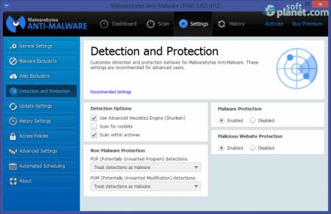 Malwarebytes Anti-Malware Screenshot3