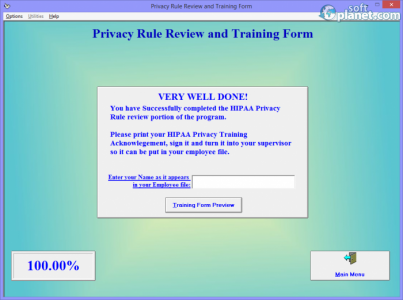 HIPAA Training Program Screenshot5