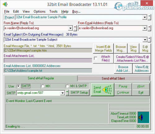 32bit Email Broadcaster 13.11.01