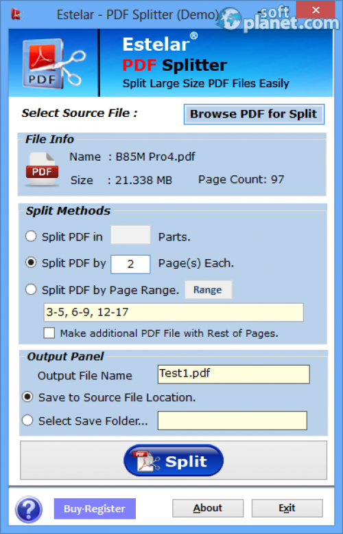 PDF Splitter Screenshot3