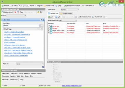 Advanced Renamer Screenshot3