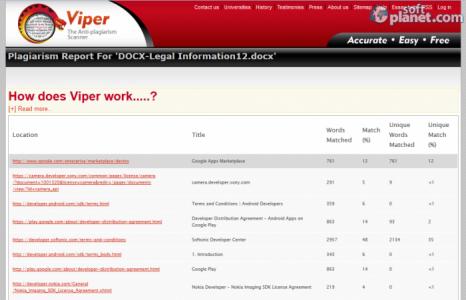 Viper The Anti-plagiarism Scanner Screenshot3