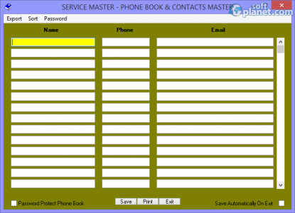 Service Master Screenshot2