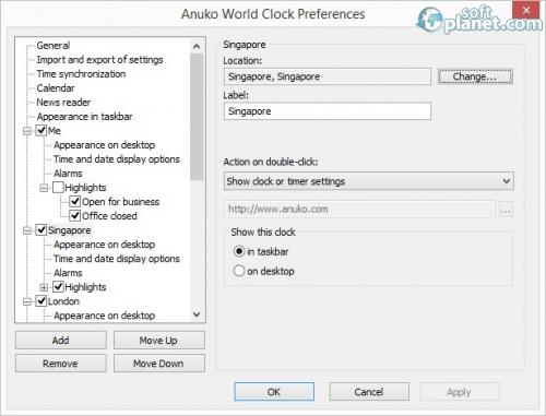 Anuko World Clock Screenshot2