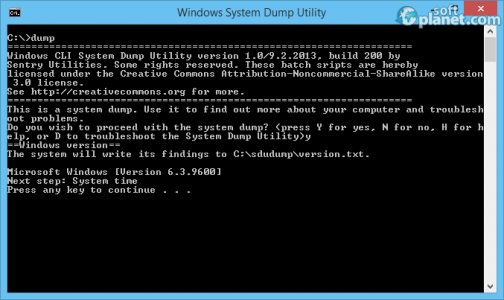 Windows System Dump Utility Screenshot2
