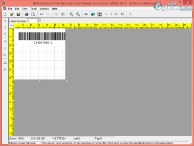 Free Barcode Label Design Application 2013 Screenshot2