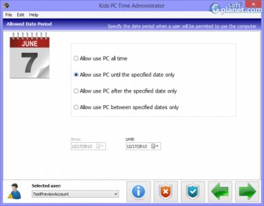 Kids PC Time Administrator Screenshot2