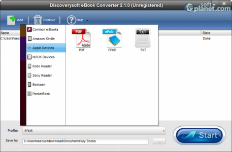 DiscoverySoft eBook Converter Screenshot3