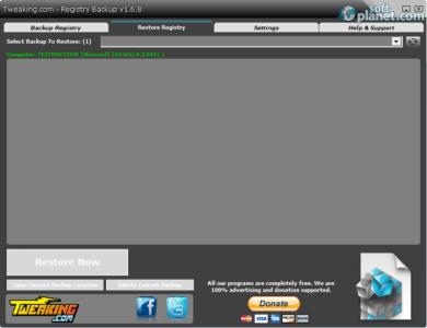 Tweaking.com - Registry Backup Screenshot2