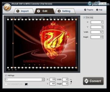 iPixSoft SWF to MPEG Converter Screenshot2