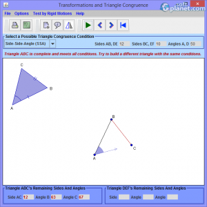 Transformations and Triangle Congruence Screenshot3